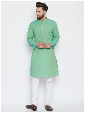 EVEN Men Green Regular Fit Kurta