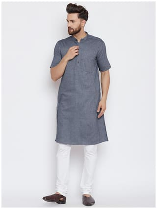 EVEN Men Grey Regular Fit Kurta