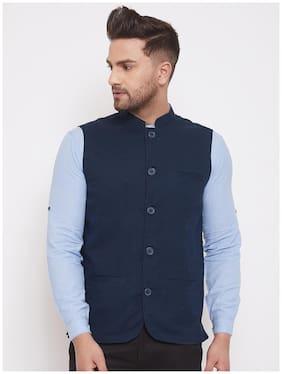 Men Solid Linen Ethnic Jacket Pack Of 1