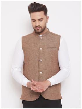 Men Solid Wool Ethnic Jacket Pack Of 1