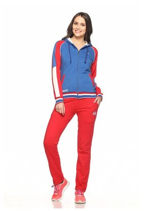Ex10sive Fleece Royal-red Active Wear Tracksuit With Hood