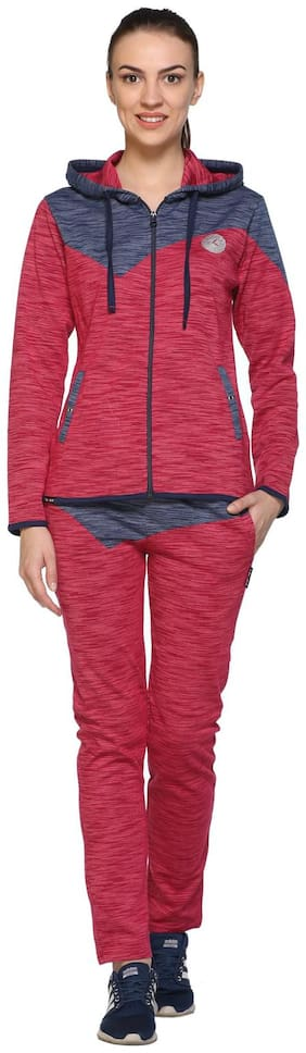 EX10SIVE Women Cotton Track Suit - Red & Blue