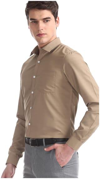 Excalibur Men Regular fit Formal Shirt - Brown