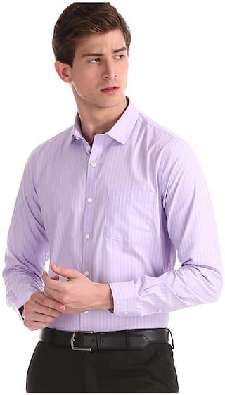 Excalibur Men Regular fit Formal Shirt - Purple