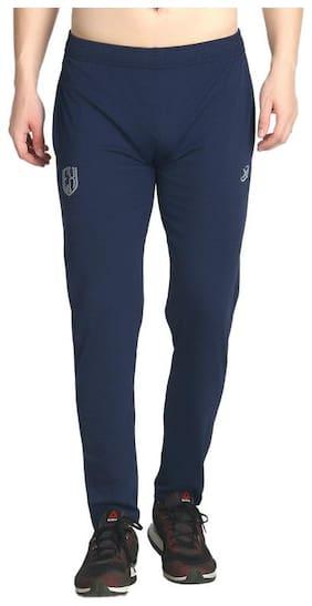 Exceedsports Men Navy blue Solid Regular fit Track pants