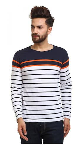 EYEBOGLER Men Multi Regular fit Cotton Round neck T-Shirt - Pack Of 1