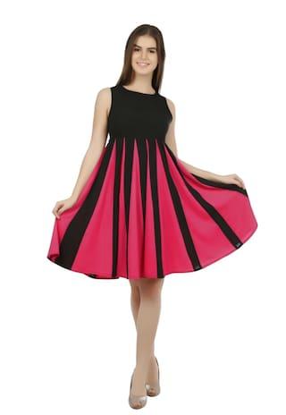 Eyelet Maxi Panel Dress