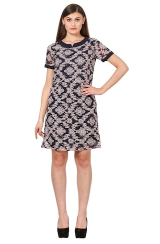 Eyelet Poly Georgette Shift