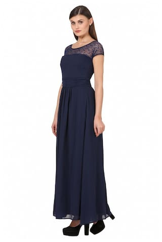 Dresses Georgette Eyelet Georgette Dresses Poly Poly Eyelet FqwqaHR