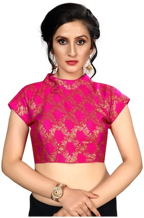 Fab Dadu Women Pink Brocade Blouse