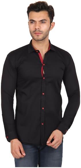 Fab Ikshvaku Men Regular fit Casual shirt - Black