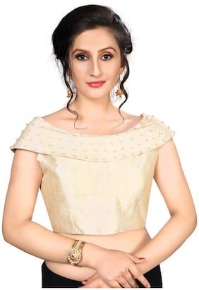Fab Viva Women Off-White Silk Blouse