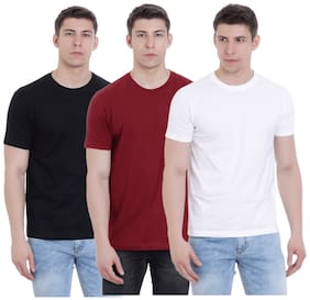 FAB 69 Men Regular fit Round neck Printed T-Shirt - Red