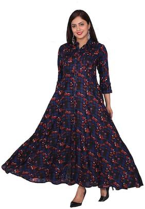 FABGLOBAL Multi Printed A-line dress