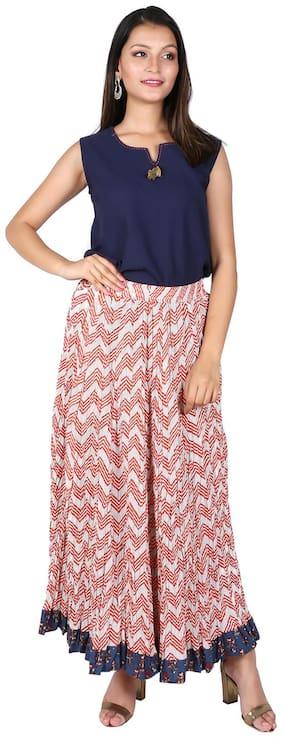 FABGLOBAL Striped Flared skirt Maxi Skirt - Multi