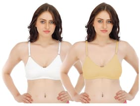c4c7cf93db5 Fabme Double Layer Material Bra - Pack of 2 - White Skin