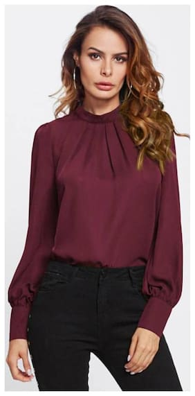 Women Solid Square Neck Top ,Pack Of 1