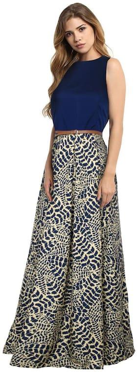Fabvilla Exclusive Designer Crepe Anarkali Gown