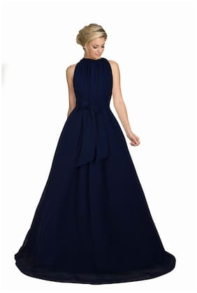 Fabvilla Exclusive Designer Georgette Gown