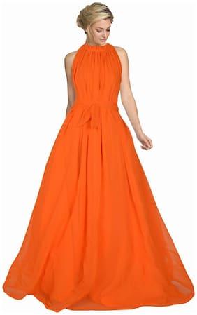 Fabvilla Exclusive Designer Georgette Gown
