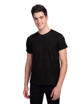 Faction Men Black Regular fit Cotton Blend Round neck T-Shirt - Pack Of 1