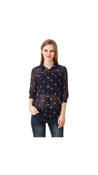 Fairiano Women 3/4th Sleeve Floral Print Shirt