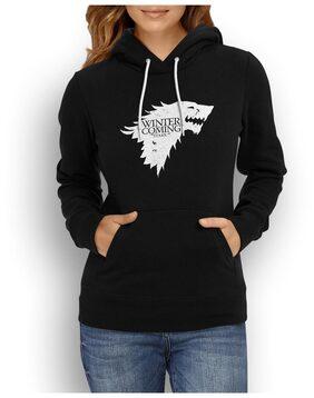 Fan Art - Winter Is Coming Black Hoodie