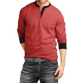 Fanideaz Men's Cotton Henley Full sleeve T Shirts