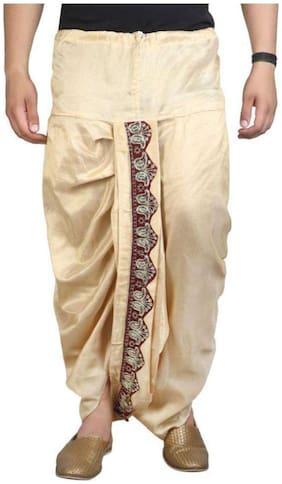 Fanzi Blended Regular dhoti Dhoti - Beige
