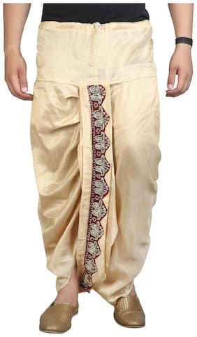 Fanzi Blended Printed Regular dhoti Dhoti - Cream