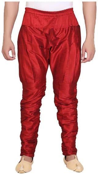 FANZI Red Silk Ballon Pant for Men