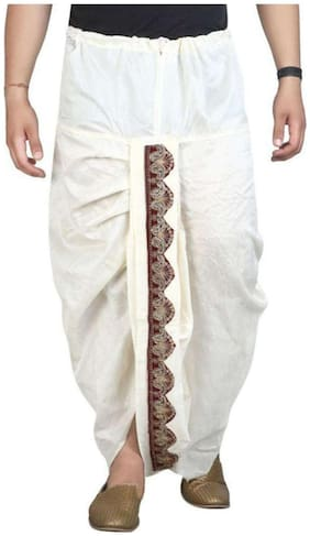 Fanzi Blended Regular dhoti Dhoti - White