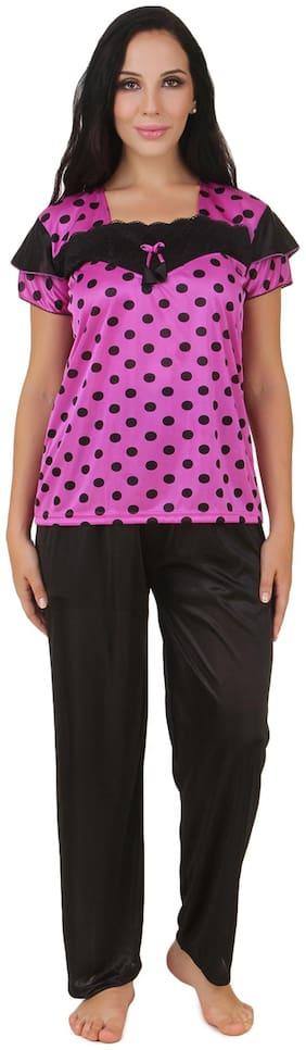 Fasense Pink Satin Nightwear