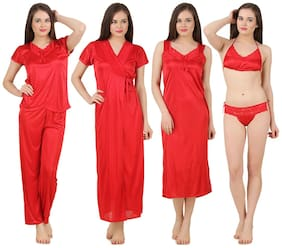 Fasense Red Night Gown