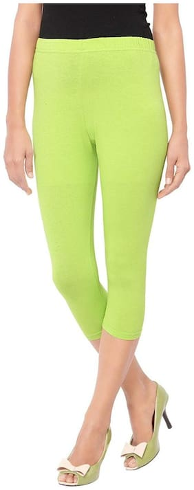 FashGlam Women Solid Regular capri - Green