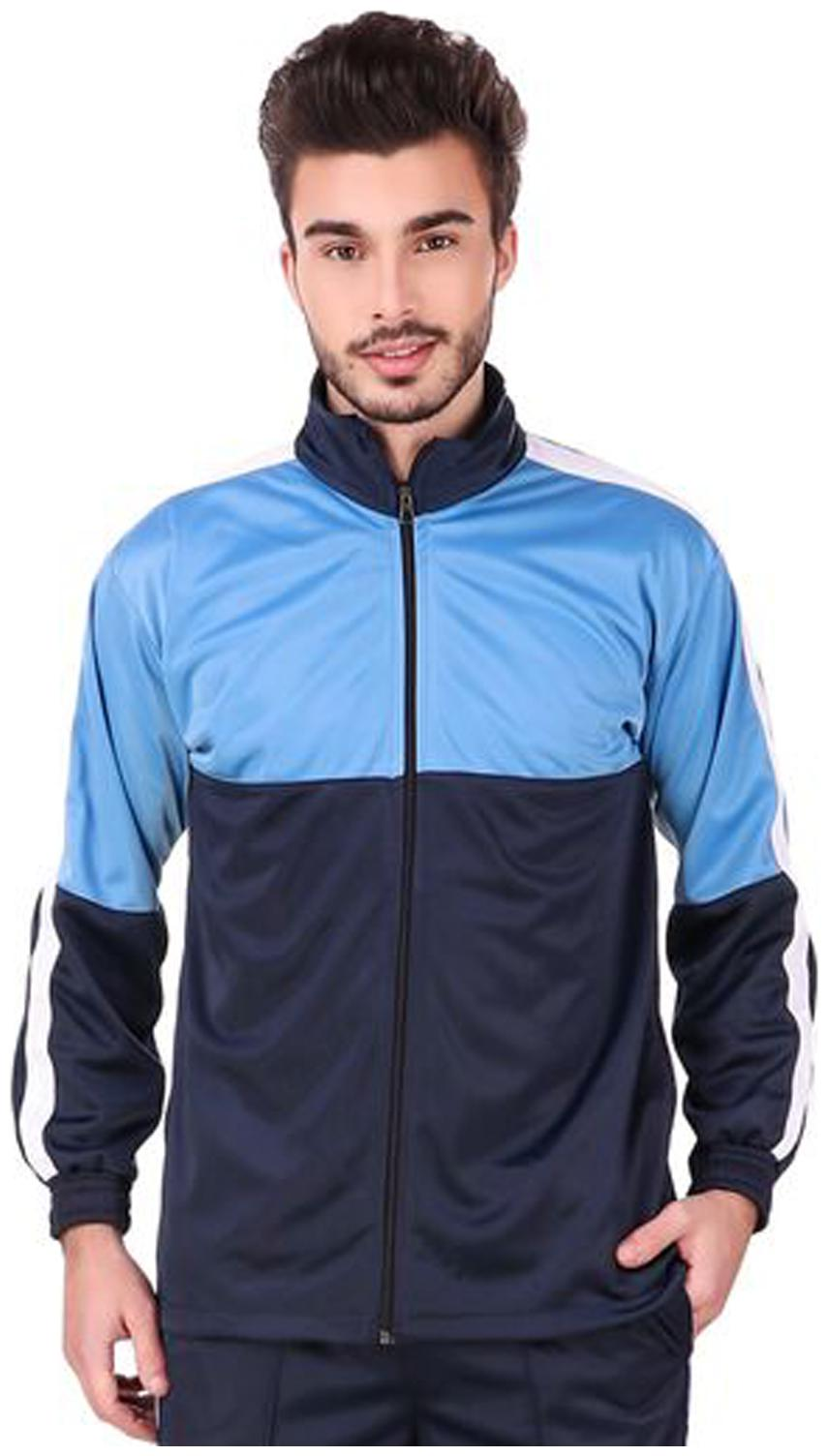 Fashion 7 Polyester Sports Jacket for Men - Track Jacket | Colorblocked...