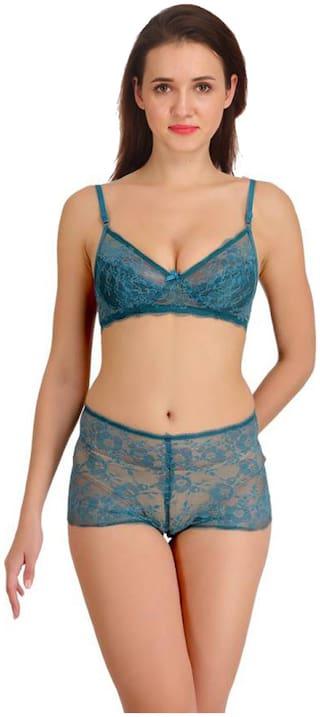 FASHION COMFORTZ Embroidered Minimizer bra - 1 Lingerie Set