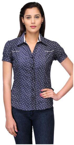 Fashion Cult Women Cotton - Regular Top Blue