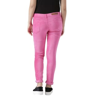 Fashion Women's Trouser For Velvet Lycra Cult Pink rYBOqrw