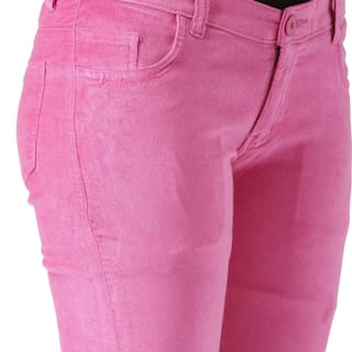 Lycra Women's Trouser Velvet Fashion Cult For Pink HqAEPRna
