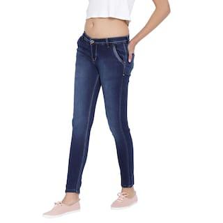 Jeans For Dark Blue Cult Stretchable Denim Fashion Cross Women's Pocket 0q8TFAwxp