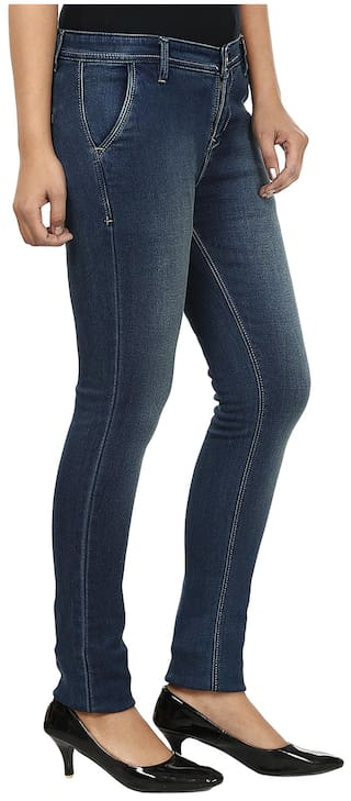 Fashion Denim Cult Fit Blue Slim Jeans HqFHY7