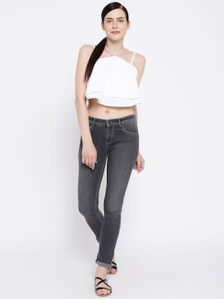 Lycra Grey Fit Women's Cult Denim For Jeans Slim Fashion wTqz1RUR