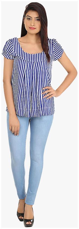 Blue Lycra Cult Jeans Fit Slim Fashion Casual Denim 1qPnRRfT