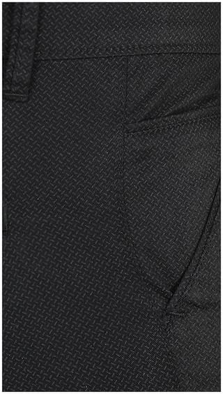 Black Lycra Trouser Casual Cult Fashion Cotton qpw7H7x5