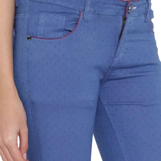 Blue Cotton Fashion Women's Jeans For Stretchable Cult aq8ExwERvt