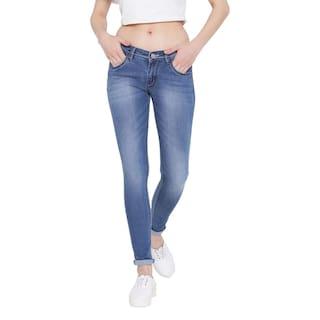 Fashion Cult Stretchable Denim Light Blue Jeans For Women's