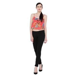 Black Cult Women's Fashion Lycra Cotton For Trouser tB6xgxPwq