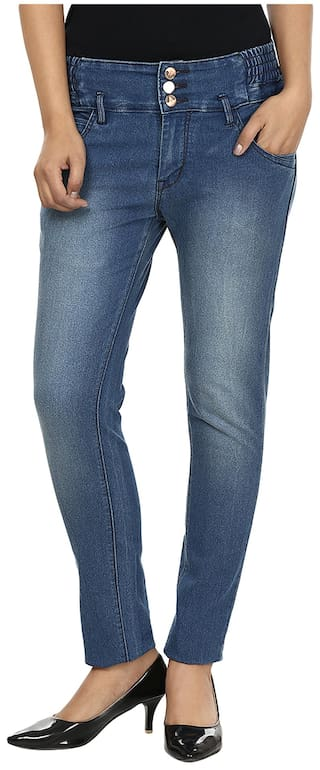 Fashion Cult Blue Denim Slim Fit Jeans