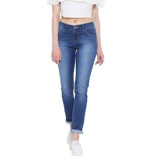 Fashion Cult Stretchable Denim Blue Jeans For Women's
